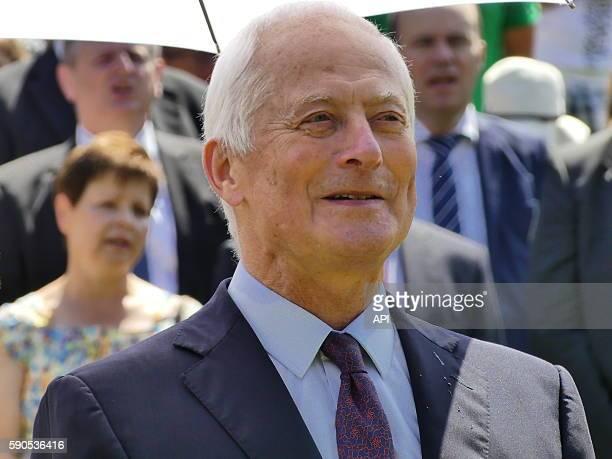 Le prince Hans-Adam II lors de la fête Nationale, le 15 août 2016, à Vaduz, Liechtenstein.