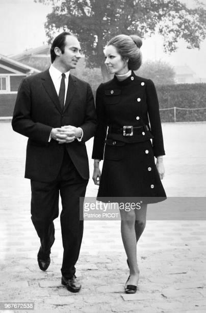 Le prince Karim Aga Khan IV avec son épouse Salimah Aga Khan le 13 octobre 1969