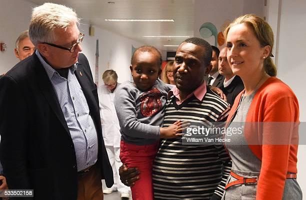 Le Prince Laurent et la Princesse Claire assistent à la célébration du 30ème anniversaire de l'ouverture du Service universitaire de pédiatrie du...
