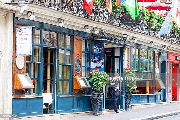 ルプロコペレストランでパリ,フランス - サンジェルマンデプレ ストックフォトと画像
