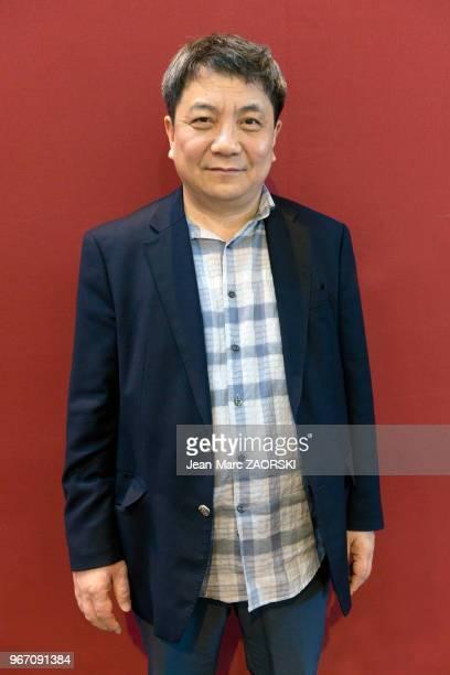 Le professeur de littérature coréenne à luniversité de Yonsei et écrivain sudcoréen Jeong Myeongkyo lors de « Livre Paris » le 36e Salon du Livre de...