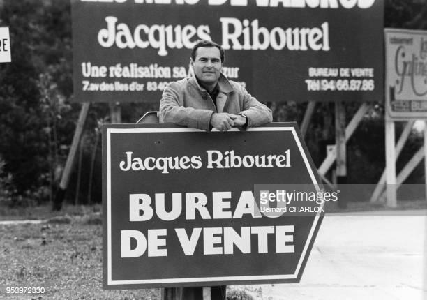 Le promoteur immobilier Jacques Ribourel en mars 1980 en France