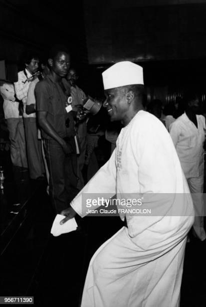 Le Président de Guinée Sékou Touré lors du Sommet de l'Organisation de l'Unité Africaine en juillet 1978 à Khartoum au Soudan