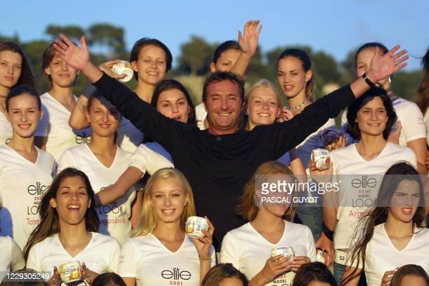 Le président de l'agence internationale de mannequins, Elite, le français Gérald Marie , présente sur la promenade des Anglais à Nice le 03 septembre...