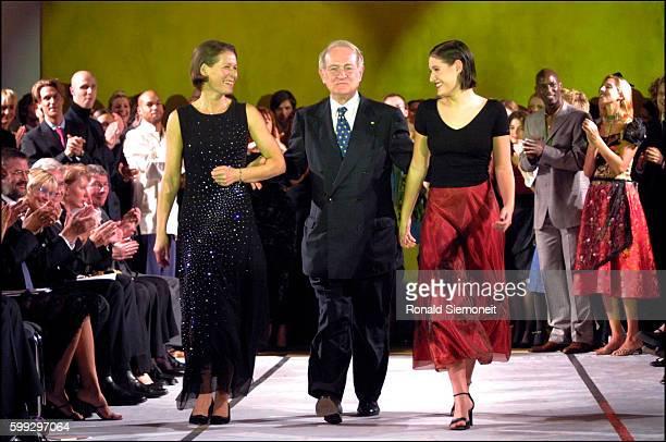 Le président federal Johannes Rau, sa femme Christina et sa fille Anna Christina.