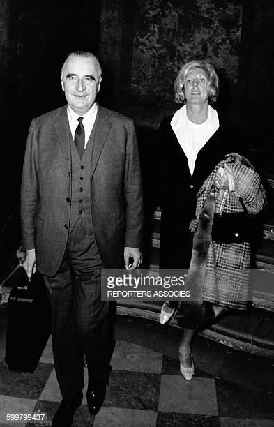 Le Président Georges Pompidou et son épouse Claude circa 1960 en France