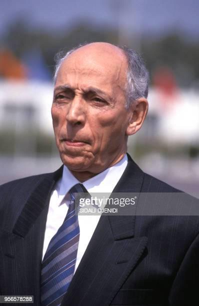 Le président Mohamed Boudiaf le 12 avril 1992 à Alger en Algérie