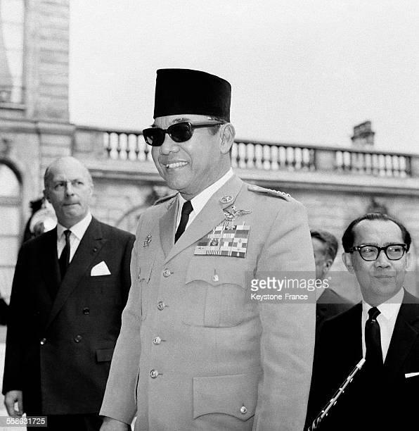 Le Président Soekarno à L'Elysée le 3 juillet 1965 à Paris France