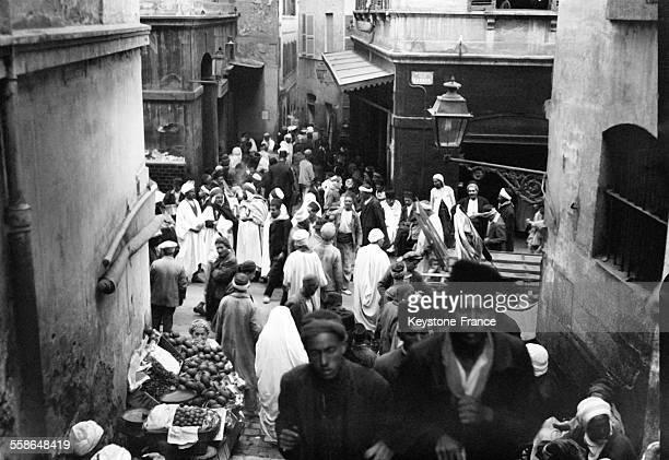 Le quartier arabe à Alger, Algérie en 1930.