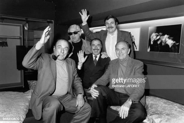 Le quatuor français Les Frêres Jacques font leurs adieux sur scène le 4 janvier 1982 au théâtre de Boulogne France