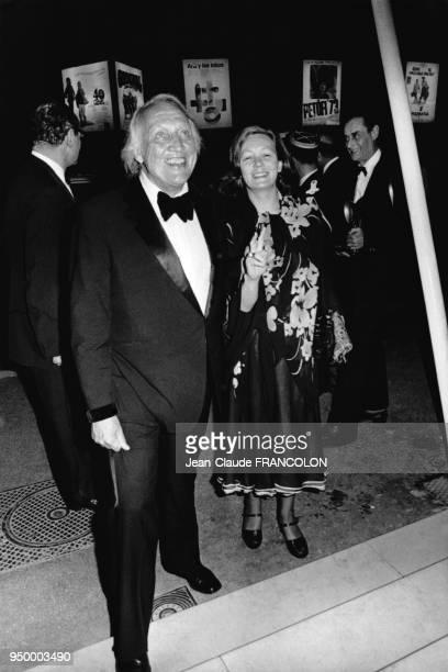 Le réalisateur américain Joseph Losey accompagné de sa femme le 15 mai 1973 au Festival de Cannes France