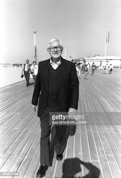 Le réalisateur américain Robert Wise au Festival de Deauville en septembre 1985 à Deauville France
