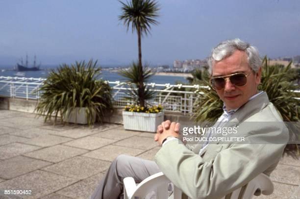 Le réalisateur anglais Terence Davies lors du Festival de Cannes en mai 1988 France