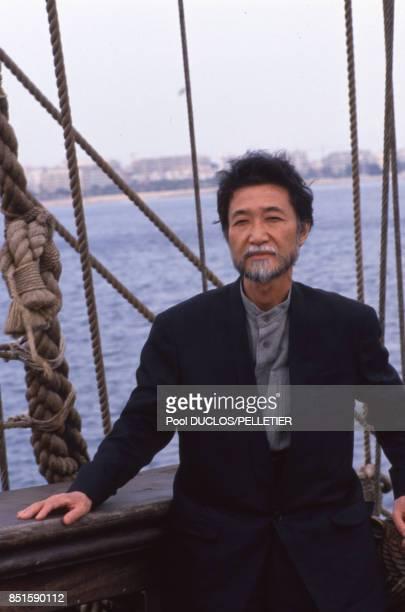 Le réalisateur japonais Yoshishige Yoshida lors du Festival de Cannes en mai 1988 France