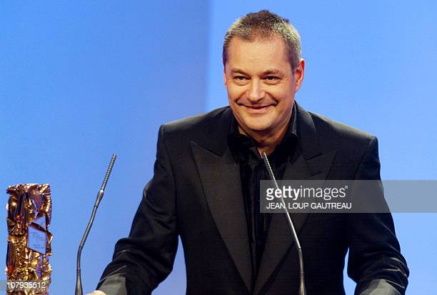 le réalisateur JeanPierre Jeunet s'exprime le 02 mars 2002 au Théâtre du Châtelet à Paris après avoir reçu le César de meilleur réalisateur pour Le...
