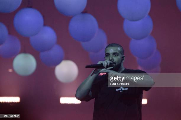 Le rappeur canadien Drake en concert live à 'Arena Becy' le 12 mars 2017 Paris France