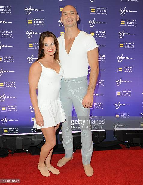 Le Reve cast members, Kelly McDonald and Gregor Ros arrive at the 9th Annual Human Rights Campaign Gala at the Wynn Las Vegas on May 17, 2014 in Las...