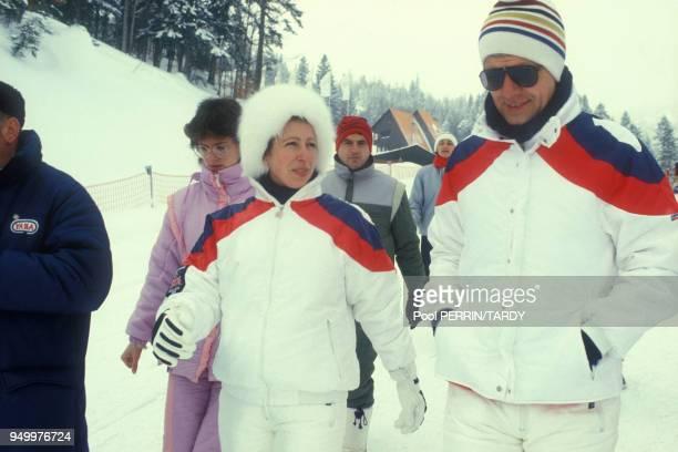 Le roi Carl-Gustav de Suède aux JO de Sarajevo le 15 février 1984 en Yougoslavie.