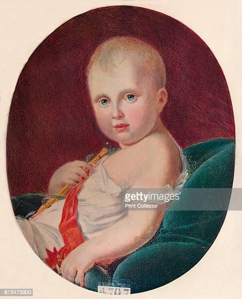 Le Roi De Rome' 1811 Portrait of Napoleon II The painting is held by the Château de Versailles Paris From Beautiful Children by Haldane Macfall [T C...