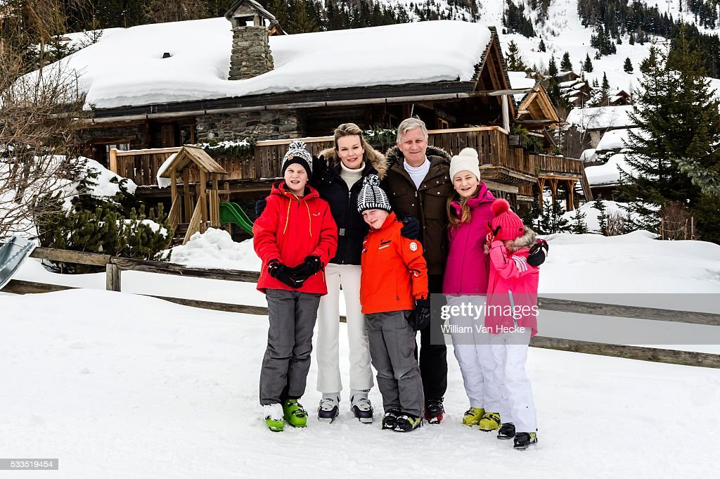 Winter holiday of the Belgian royal family in Verbier : Nyhetsfoto