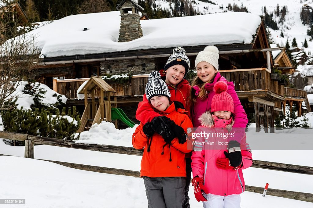 Winter holiday of the Belgian royal family in Verbier : Fotografía de noticias