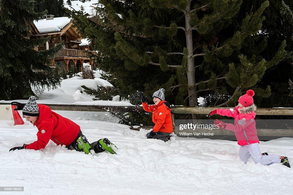 Winter holiday of the Belgian royal family in Verbier : Fotografía de noticias