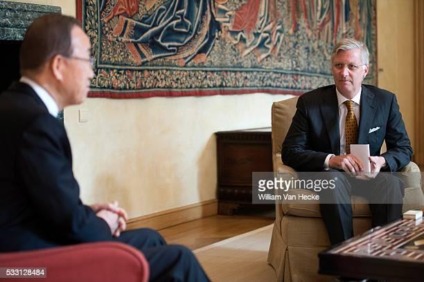 - Le Roi et la Reine reçoivent Ban Ki-moon, Secrétaire général des Nations Unies, et son épouse au Palais de Bruxelles - De Koning en de Koningin...