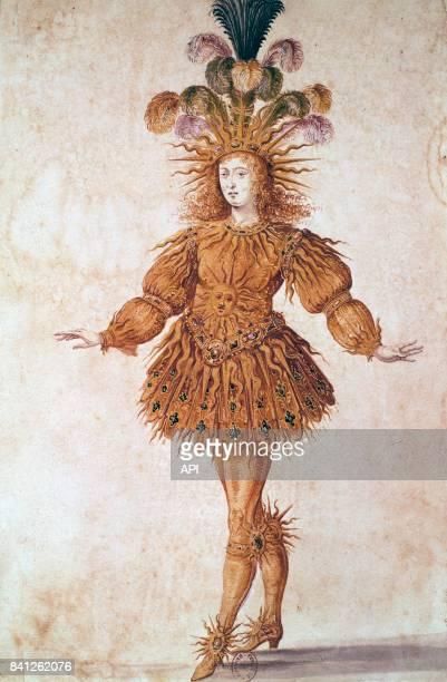 Le roi Louis XIV en costume pour le 'Ballet de la nuit'.