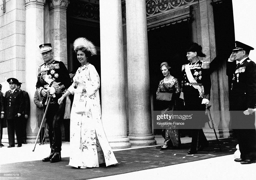 Le Roi Paul 1er de Grèce et la Reine Frederika : Foto jornalística