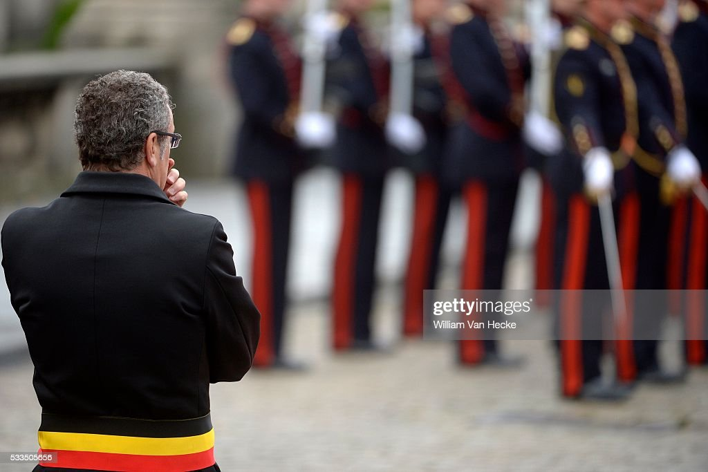 Arrival King Felipe of Spain and Queen Letizia at Royal Palace : News Photo