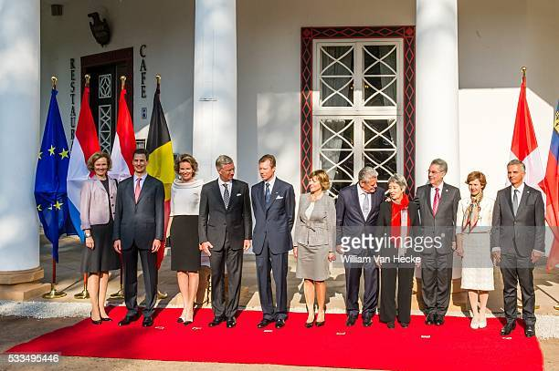 Le Roi Philippe et la Reine Mathilde assistent au Sommet des pays germanophones à Rostock Koning Filip en Koningin Mathilde nemen deel aan een...