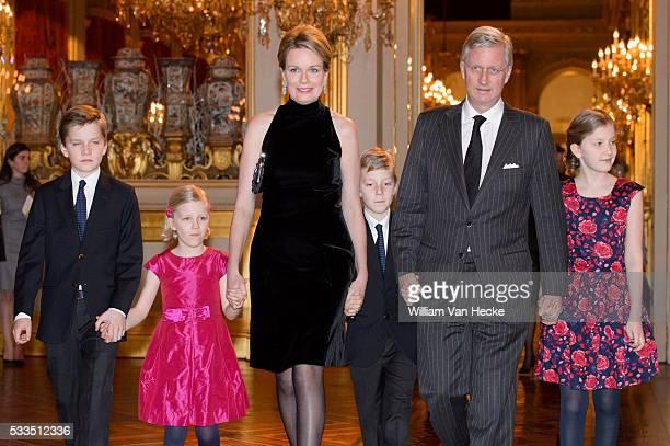Le Roi Philippe et la Reine Mathilde offrent le traditionnel concert de Noël au Palais de Bruxelles Koning Filip en Koningin Mathilde bieden het...