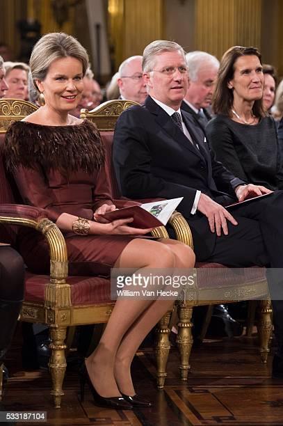 Le Roi Philippe et la Reine Mathilde offrent un concert d'automne au Palais Royal de Bruxelles pour mettre à l'honneur des personnes et des...