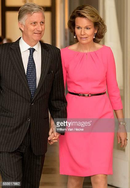 - Le Roi Philippe et la Reine Mathilde reçoivent les chefs de postes diplomatiques belges, revenus en Belgique à l'occasion des journées de contact...