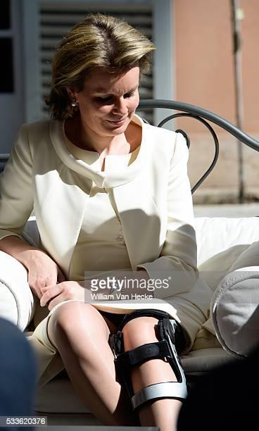 Le Roi Philippe et la Reine Mathilde reçus par le Pape François au Vatican Koning Filip en Koningin Mathilde ontvangen door Paus Franciscus op het...