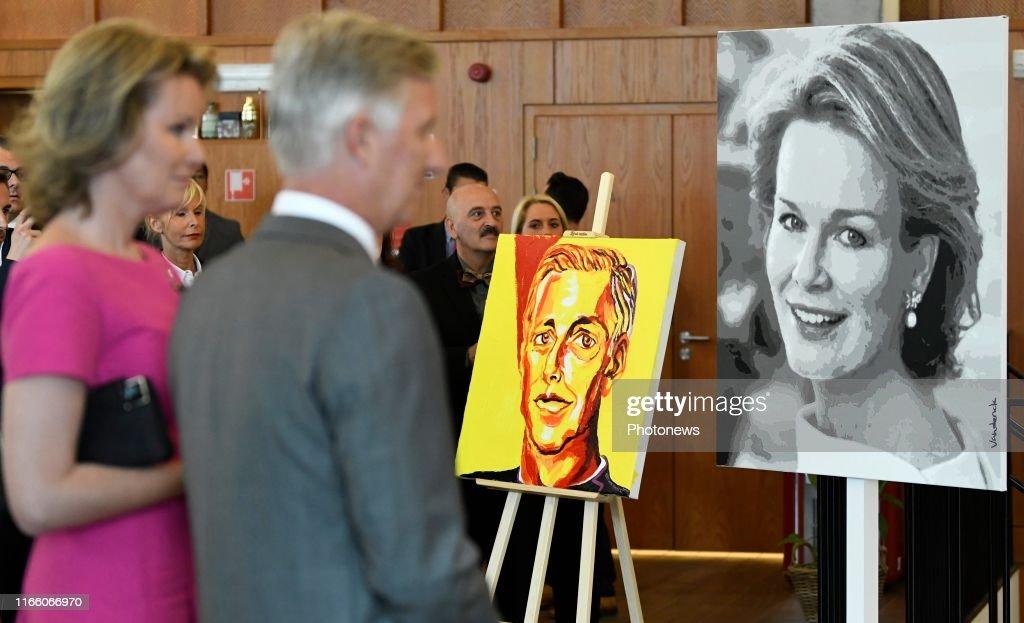 King Philip and Queen Mathilde visit Hainaut : News Photo