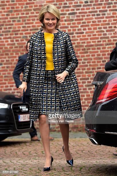 Le Roi Philippe et la Reine Mathilde visitent la Province du Hainaut Visite de l'Institut Technique Libre d'Ath où ils participent à une réunion de...