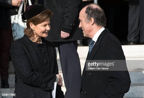 Le Roi Philippe la Reine Mathilde et les Membres de la Famille Royale assistent à la messe qui sera célébrée comme chaque année à la mémoire des...