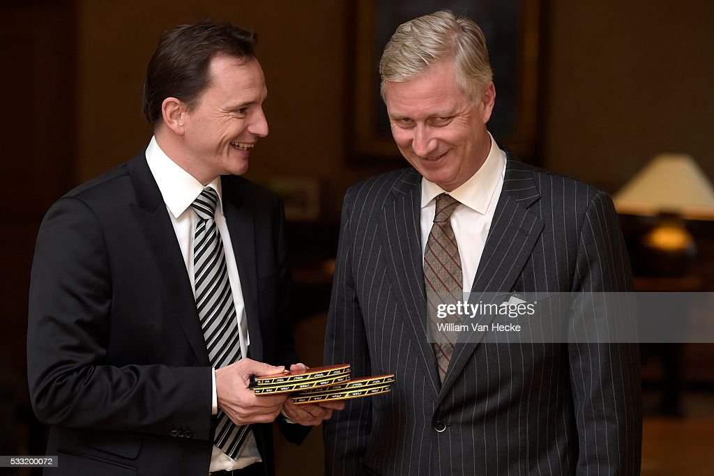 King Philippe meets Jean-Michel Saive : News Photo