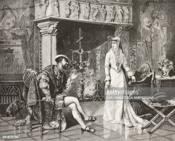 Le roi s'amuse The King is amused Francis I of France and the white queen oil painting by Francesco Saverio Altamura 1879 inspired by Victor Hugo's...
