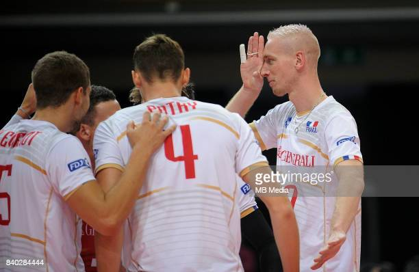Le Roux Kevin of France during the European Men's Volleyball Championships 2017 match between Turkey and France on August 28 2017 in Katowice Poland