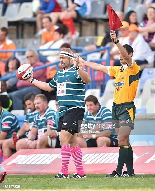 Le Roux of the Griekwas during the Absa Currie Cup match between Toyota Free State and ORC Griquas at Free State Stadium on September 19 2015 in...