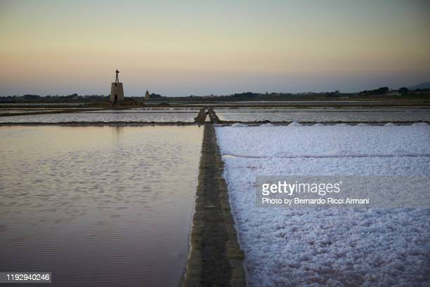 le saline di mozia - marsala sicily stock pictures, royalty-free photos & images