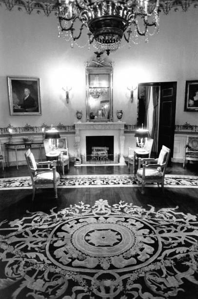 Le salon bleu de la Maison Blanche à Washington Pictures | Getty Images