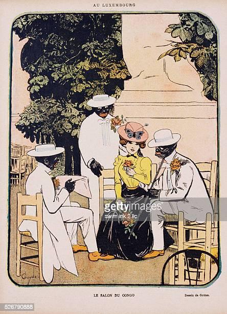 Le Salon du Congo Illustration by Henri Guydo