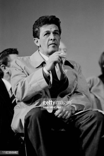 Le secrétaire du Parti Communiste Italien Enrico Berlinguer lors du meeting commun PCI-PCF qui a rassemblé 100.000 personnes à Paris le 3 juin 1976,...