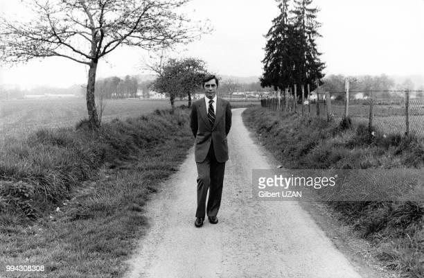 Le secrétaire général de l'UDR Yves Guéna les 17, 18 et 19 avril 1976 à Périgueux, France.