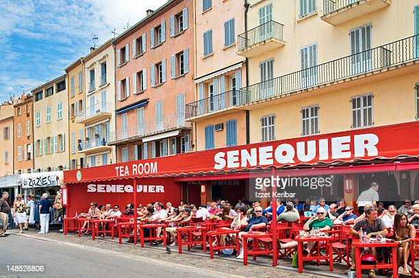 Le Senequier cafe with outdoor diners.