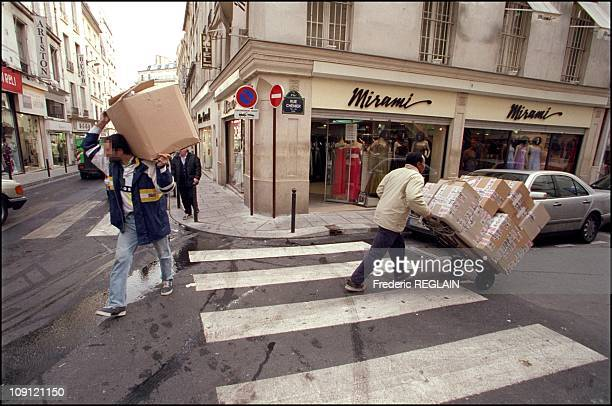 """""""Le Sentier"""" Neighborhood In Paris, The Headquarters Of The Clothing Business On February 20Th, 2001 In Paris, France."""