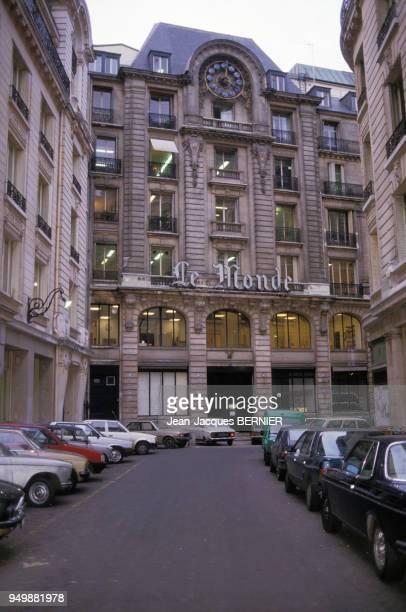 Le siège du journal 'Le Monde' au 5 rue des Italiens à Paris le 3 décembre 1984 France